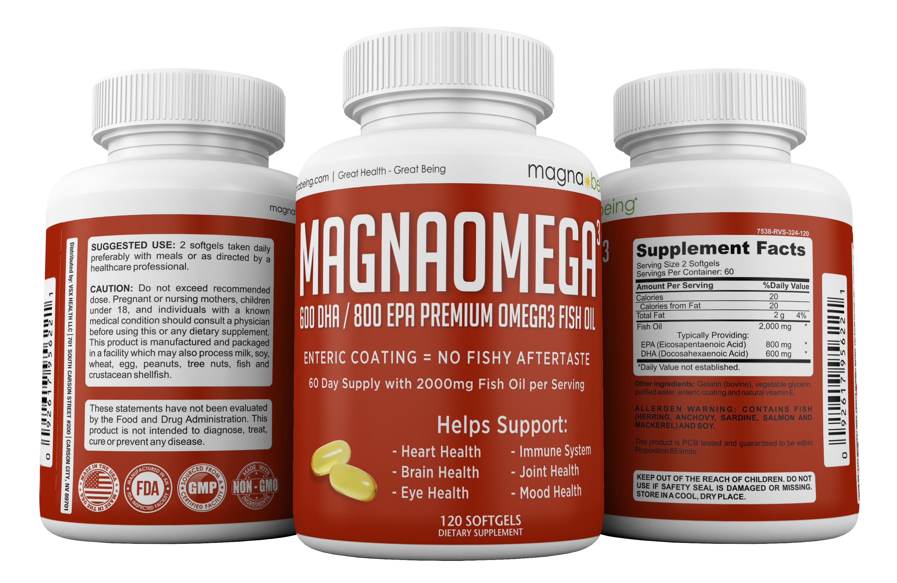 Magna being magna kor health supplement bundle complete for Whole foods fish oil